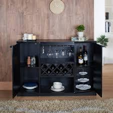 black wine cabinet. Interesting Wine Amazoncom  IoHOMES Annadel Wine Cabinet Buffet Black Buffets U0026  Sideboards For T
