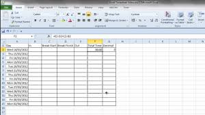Simple Excel Timesheet Youtube