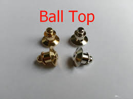 Top Locking 2019 Ball Top Locking Lapel Badge Pin Keepers Backs Clasp Clutches