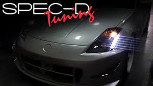 Specdtuning Installation Video 2003 2005 Nissan 350z Led Projector Headlights