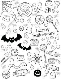 halloween candy coloring page. Halloween Candy Coloring Pages Printable To Print For Page