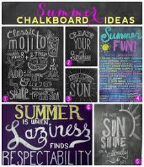 Summer Chalkboard Design Ideas.... Can't wait to decorate my chalkboard