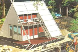 a small scale vacation home plan advertised by the douglas fir plywood association in 1960
