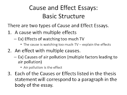 cause and effect of air pollution essay academic advising  cause and effect essay ppt video online cause and effect essays basic structure