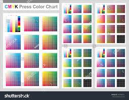 Cmyk Press Color Chart Vector Color Stock Vector 740496031