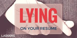 Lying On Resume Unique Lying on Your Resume Ladders