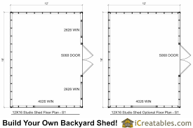 shed floor plans. 12x16 Office Shed Plans Floor Plan