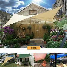 garden shade cloth. Patio Garden Sun Shade Sail Canopy Awning Sunscreen 98% UV Block 3 Shape New Cloth E