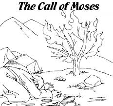 Small Picture Moses Printable Coloring Pages Burning bush Sunday school and Bible