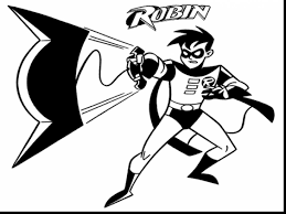 Small Picture Robin Batman Coloring Pages esonme