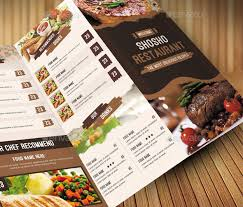 Restarunt Brochure Adorable 48 Effective PSD Restaurant Menu Design Templates Web Graphic