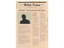 The Times Newspaper Template Editable Newspaper Template Portrait