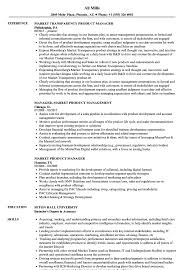 Market Product Manager Resume Samples Velvet Jobs