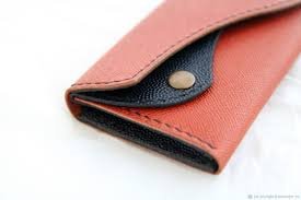 wallets business card holders handmade livemaster handmade women s leather wallet