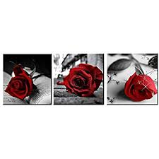 amoy art red rose flowers gray book canvas wall art pictures canvas prints for home on red rose canvas wall art with amazon amoy art red rose flowers gray book canvas wall art