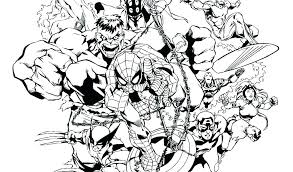 Avengers Infinity War Spiderman Coloring Pages Pdf Iron Man Marvel