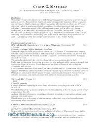 List Of Career Objectives Objective For Administrative Resume Medical Assistant Skills List