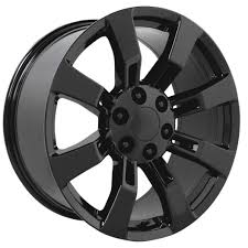 All Chevy chevy 22 inch rims : Escalade Wheels 22 inch Gloss Black Replica Rims fit Escalade 2002-17