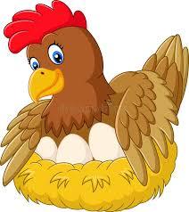 cute hen clipart. Beautiful Hen Cute Hen Brooding Her Egg Stock Vector To Hen Clipart