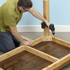 build dining room table. Driving Pocket-hole Screws Into Table Base Build Dining Room O