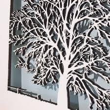 small wood tree wall art