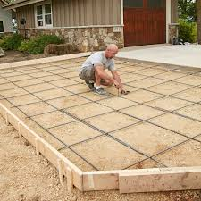 Concrete Driveway Thickness Design How To Prepare A Site For Concrete Base Forms And Rebar