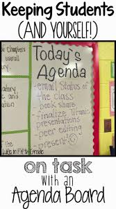 Class Agendas Life In Fifth Grade Keeping Students On Task Agenda Board Top