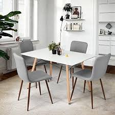 dining room sets uk. Plain Room Dining Room Chairs Set Grey Linen Fabric Kitchen Table Seats Retro Furniture  UK For Sets Uk D