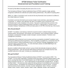 Software Testing Sample Resume Sample Resume For It Jobs Quality