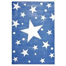 kids rug happy rugs stars navy blue white 160x230cm