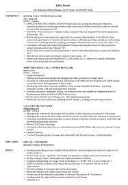 Call Centre Manager Resume Samples Velvet Jobs