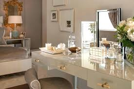 vanity table with lighted mirror and bench vanity table and mirror contemporary bedroom gold and white