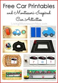 Free Cars Printables Free Car Printables And Montessori Inspired Car Activities Living