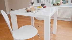Small Picture Modern Square White High Gloss Table 4 Seater UK