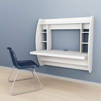 sweet decorating space saving office furniture. Sweet Floating Furniture For Home Office Design In Bedroom Areas With White Wood Wall Mounted Desks Decorating Space Saving L