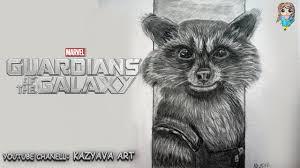 как нарисовать енота ракету из фильма стражи галактики Kazyava Art