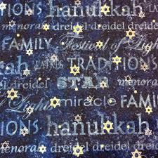 NC07 Hanukkah Star of David Winter Holiday Menorah Religious ... & NC07 Hanukkah Star of David Winter Holiday Menorah Religious Cotton Quilt  Fabric Adamdwight.com
