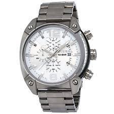 diesel overflow dz4203 wrist watch for men diesel chronograph advanced silver dial stainless steel mens watch dz4203