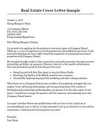 top cover letter real estate cover letter sample writing tips resume