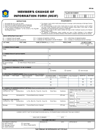 Member S Change Of Information Form Birth Certificate Death