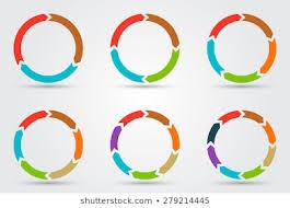 Circle Arrow Chart Stock Vectors Images Vector Art