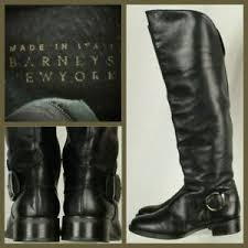 Italian Women S Shoe Size Chart Details About Barneys New York Womens Italian Riding Boots Size Eur 36 Us 6m Black Leather