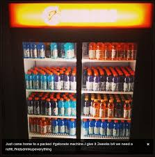 Gatorade Vending Machine Commercial Delectable Wade Has 48 Gatorade Bottles In His Fridge Best Wade Gatorade