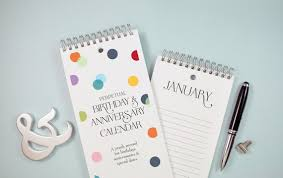 Confetti Dots Birthday And Anniversary Calendar By The Speckled Duck