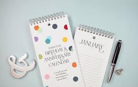 Birthday Anniversary Calendar Confetti Dots Birthday And Anniversary Calendar By The Speckled Duck