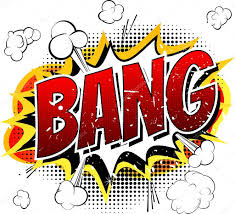 bang ic book cartoon explosion isolated on white background vector by noravector