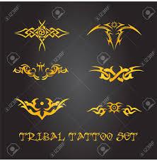 Tribal Tattoo Ornament Set