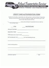 relaxed transportation services credit card authorization form relaxed transportation services credit card authorization form