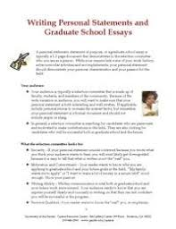 writing personal statements and graduate school essays graduate school essay format