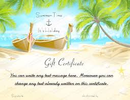 Holiday Gift Certificate Printable Beach Holiday Gift Certificate Template
